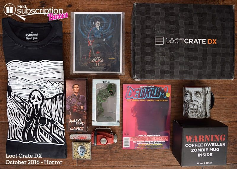 Loot Crate DX October 2016 Review - Horror Crate - Box Contents