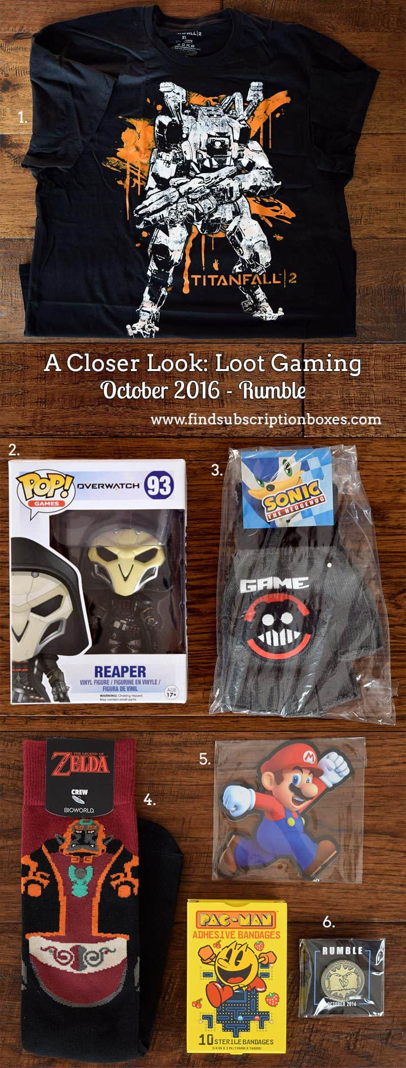 October 2016 Loot Gaming Review - Rumble Crate - Inside the Box