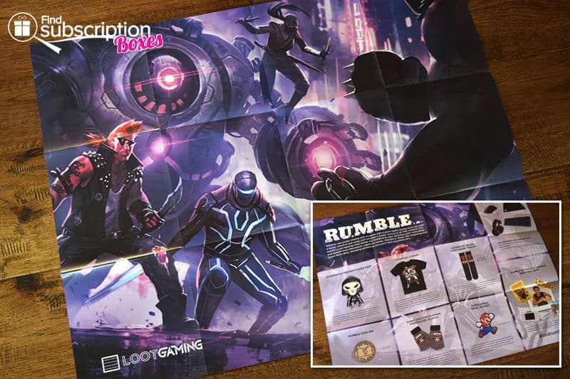 October 2016 Loot Gaming Review - Rumble Crate - Poster