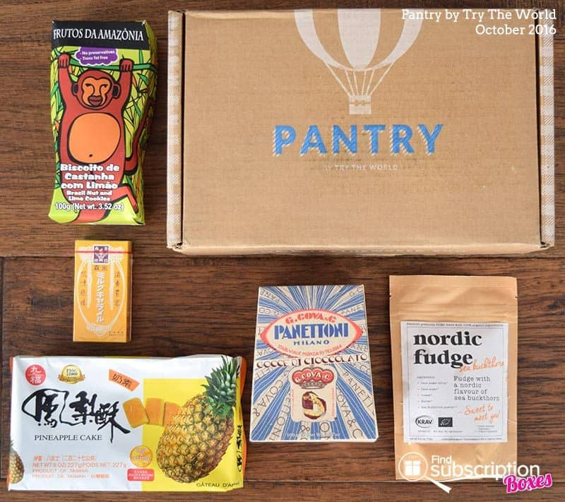 October 2016 Pantry by Try The World Review - Box Contents