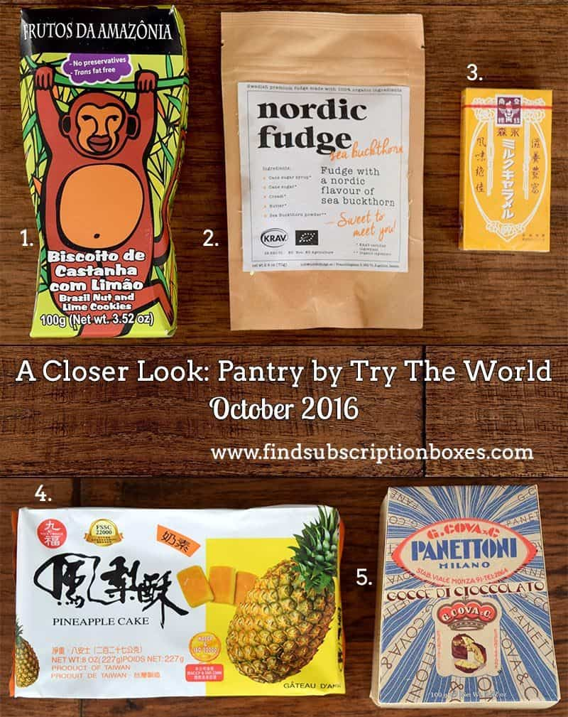October 2016 Pantry by Try The World Review - Inside the Box