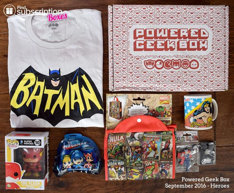 Powered Geek Box September 2016 Review - Box Contents