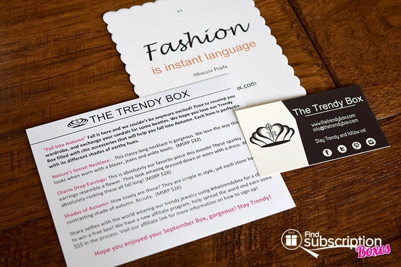 September 2016 The Trendy Box Review - Cards