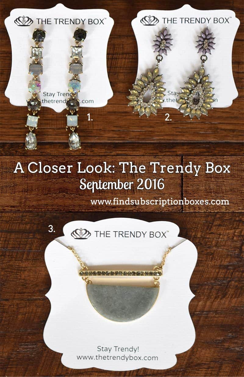 September 2016 The Trendy Box Review - Inside the Box