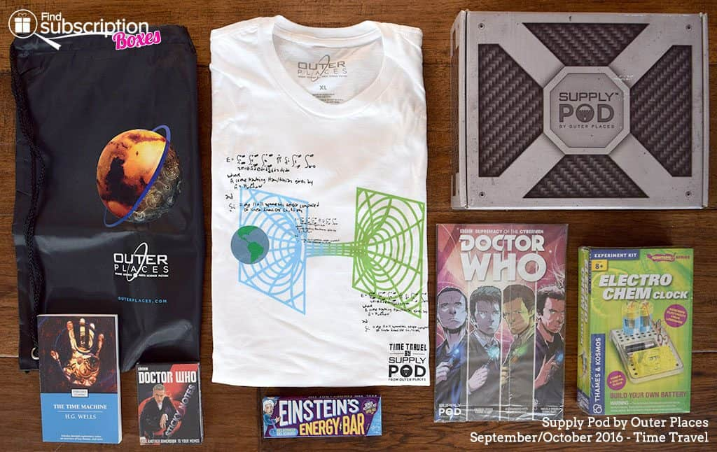 Supply Pod October 2016 Time Travel Box Review - Box Contents