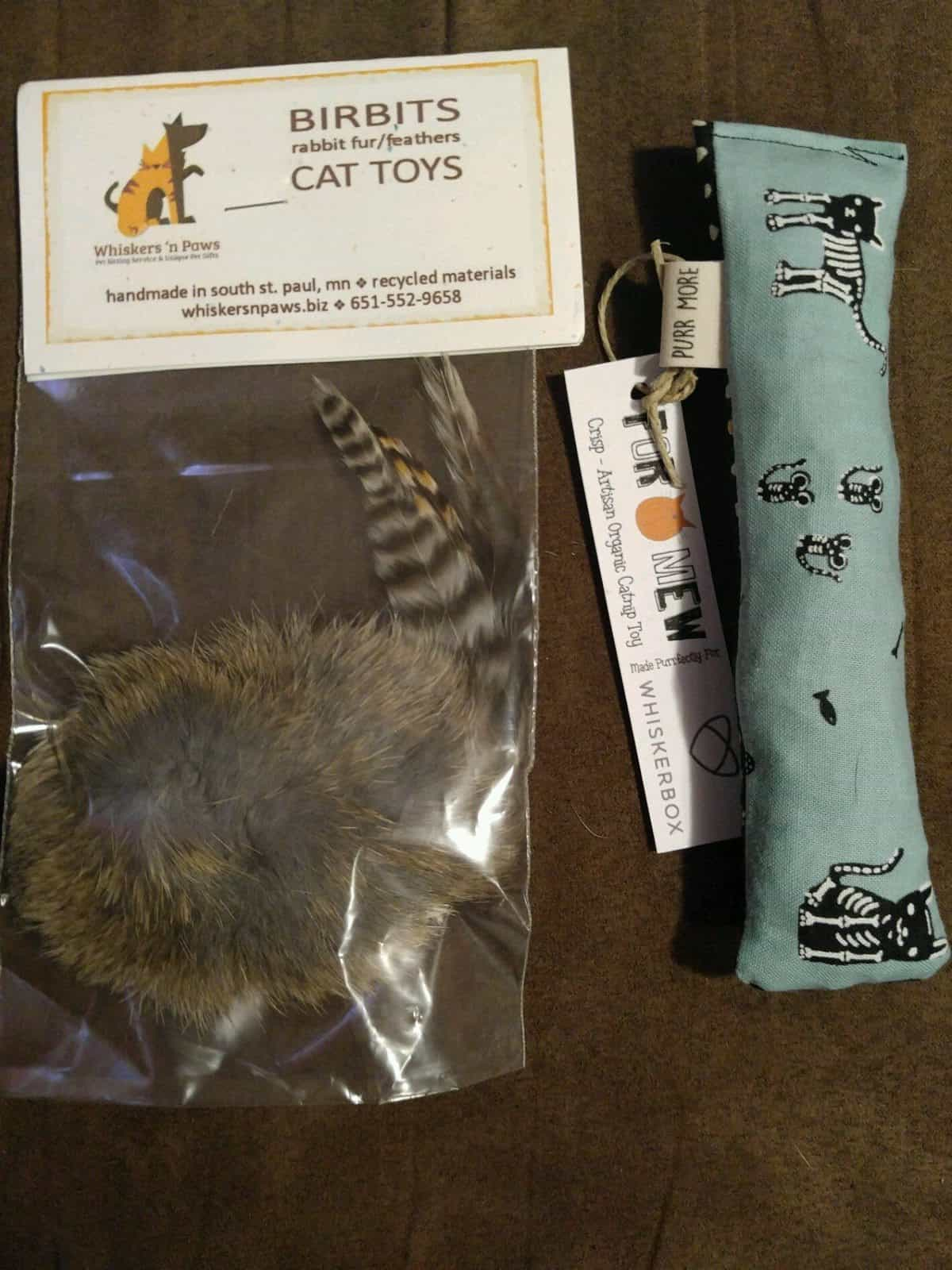 WhiskerBox October 2016 Box Review - Cat Toys