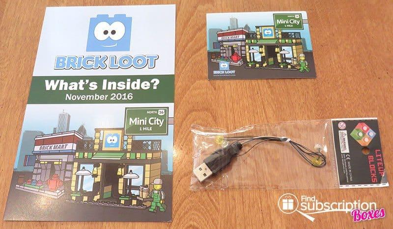 Brick Loot November 2016 Review - Sticker & Light