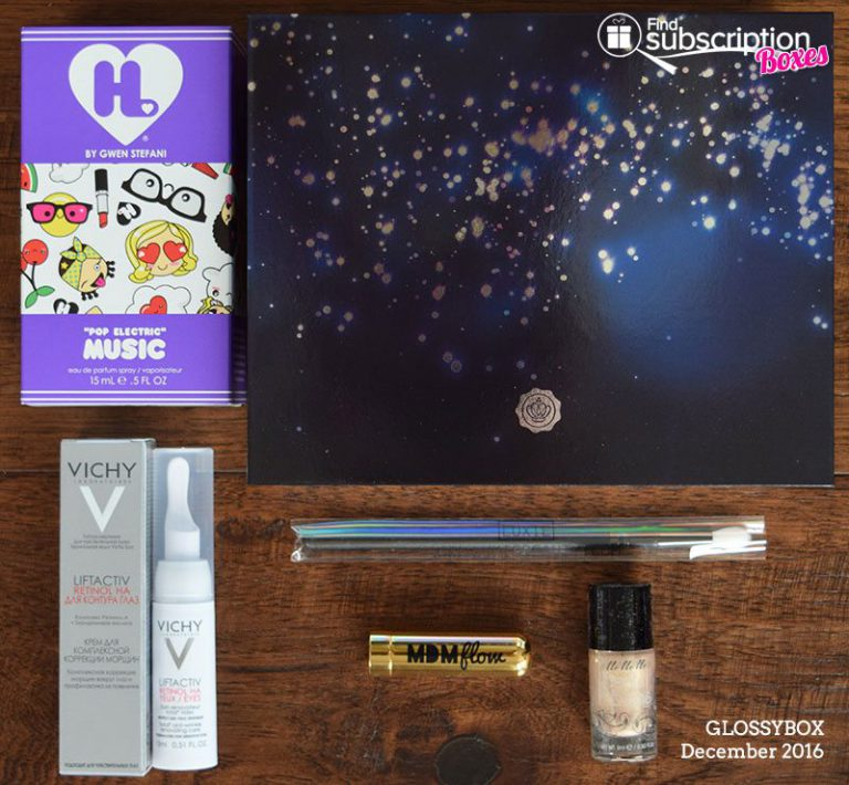 December 2016 GLOSSYBOX Review - Box Contents