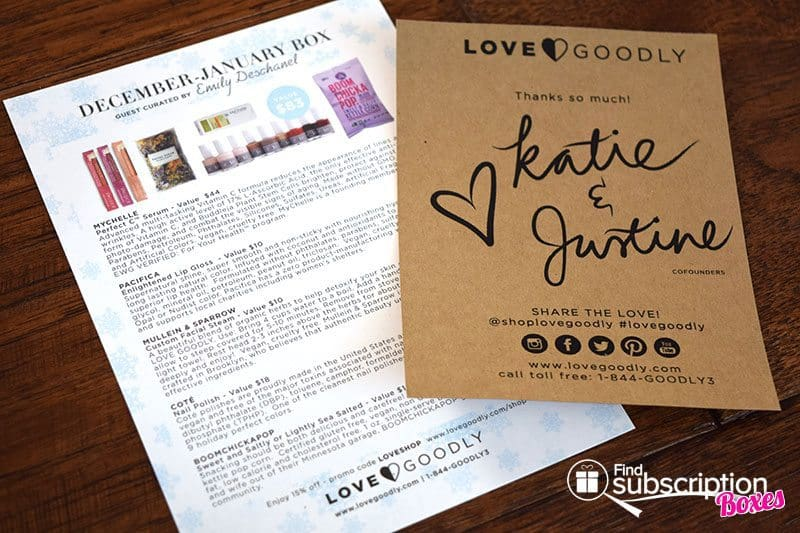 December/January 2017 LOVE GOODLY Review - Product Card