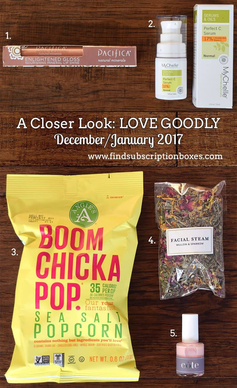 December/January 2017 LOVE GOODLY Review - Inside the Box