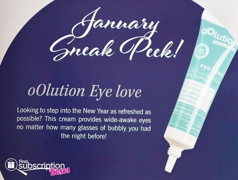 GLOSSYBOX January 2017 Box Spoiler - oOlution Eye Love