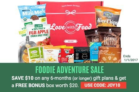 Love With Food Deluxe $10 Off & Free Box