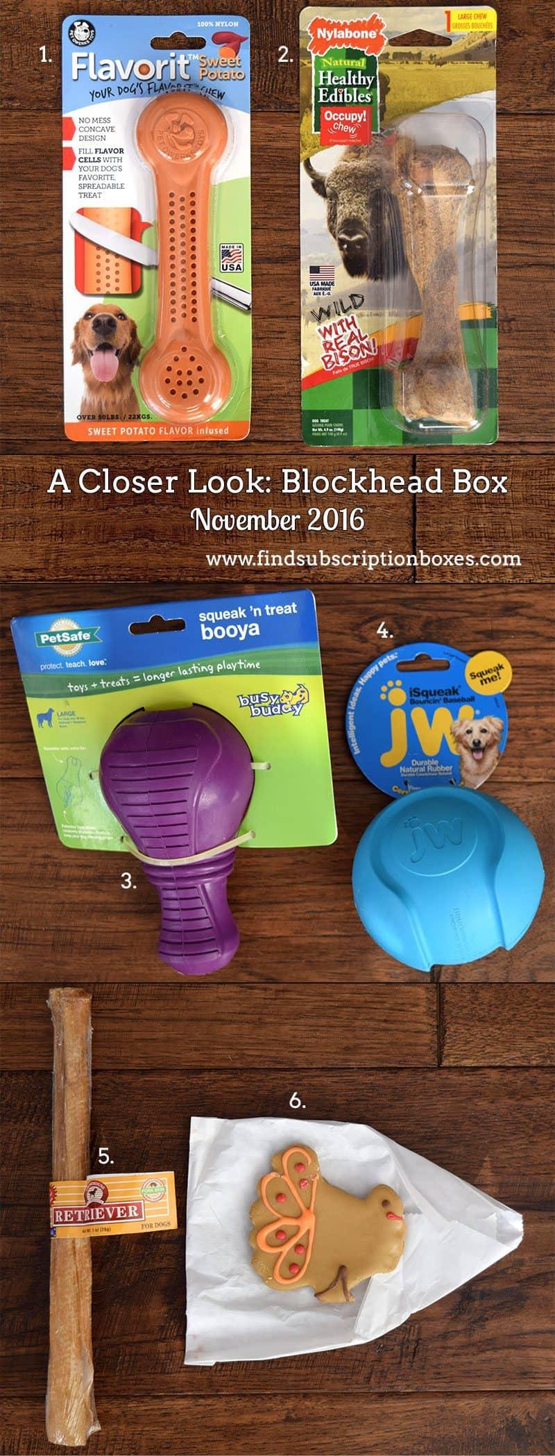November 2016 Blockhead Box Review - Inside the Box
