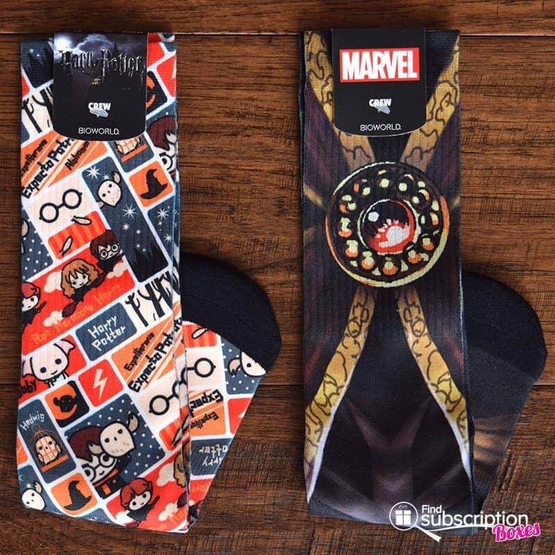 November 2016 Loot Wear Review - Loot Socks - Harry Potter, Doctor Strange
