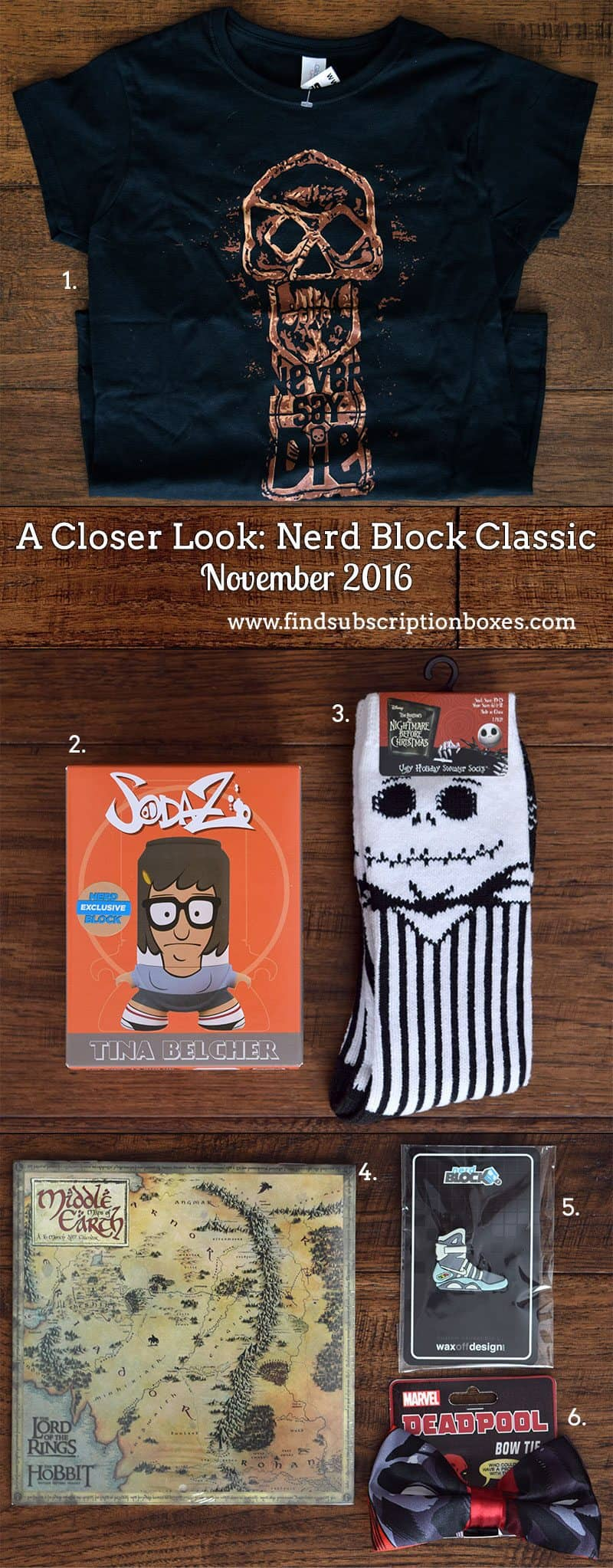 November 2016 Nerd Block Classic Review - Inside the Box