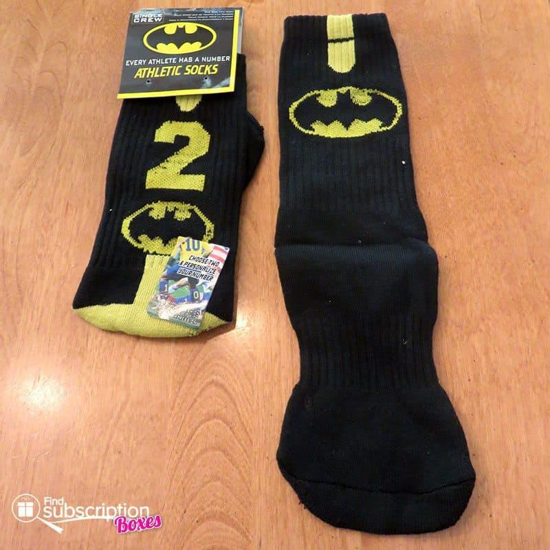 November 2016 Nerd Block Jr. for Boys Review - Batman Socks
