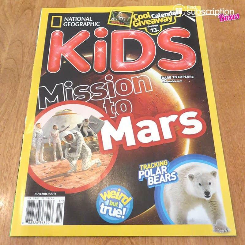 November 2016 Nerd Block Jr. for Boys Review - National Geographic KIDS