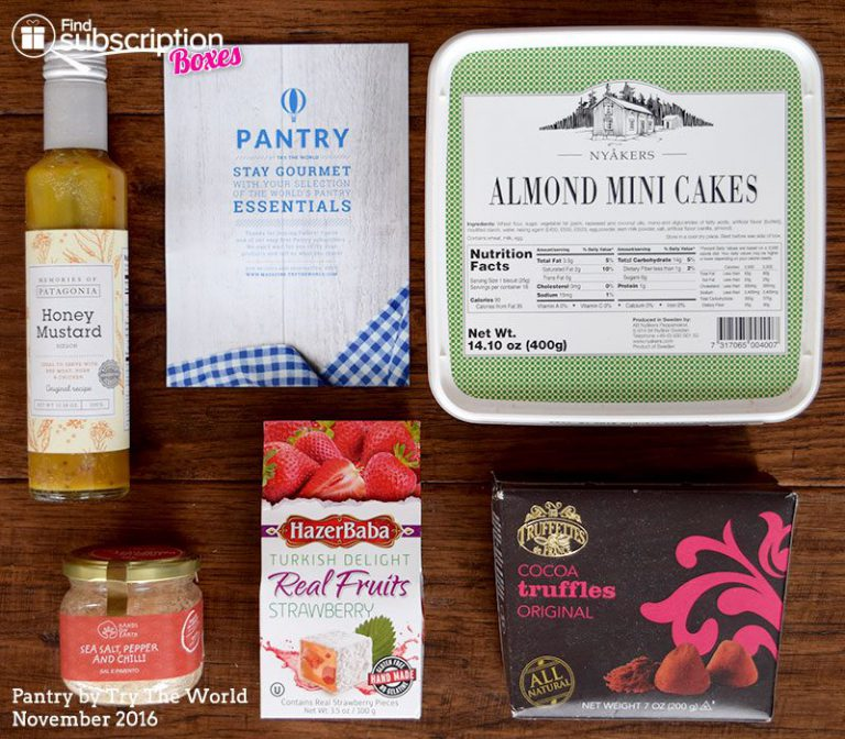 November 2016 Pantry by Try The World Review - Box Contents