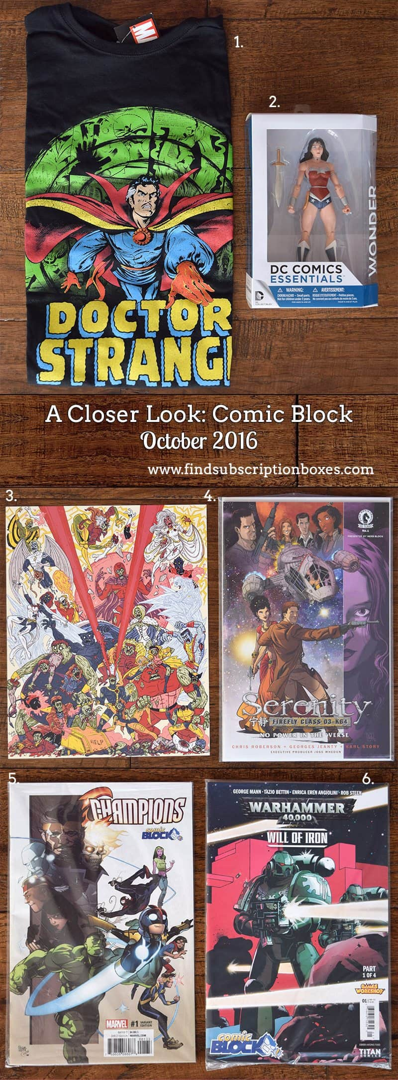 October 2016 Comic Block Review - Inside the Box