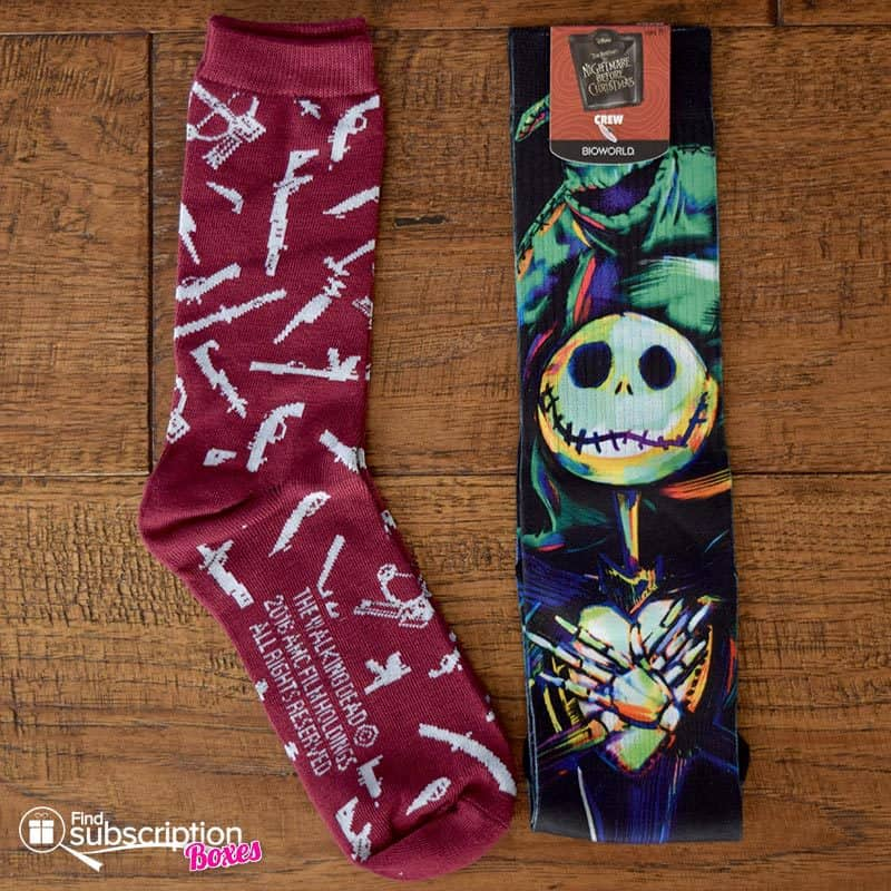 October 2016 Loot Wear Review - Horror - Loot Socks