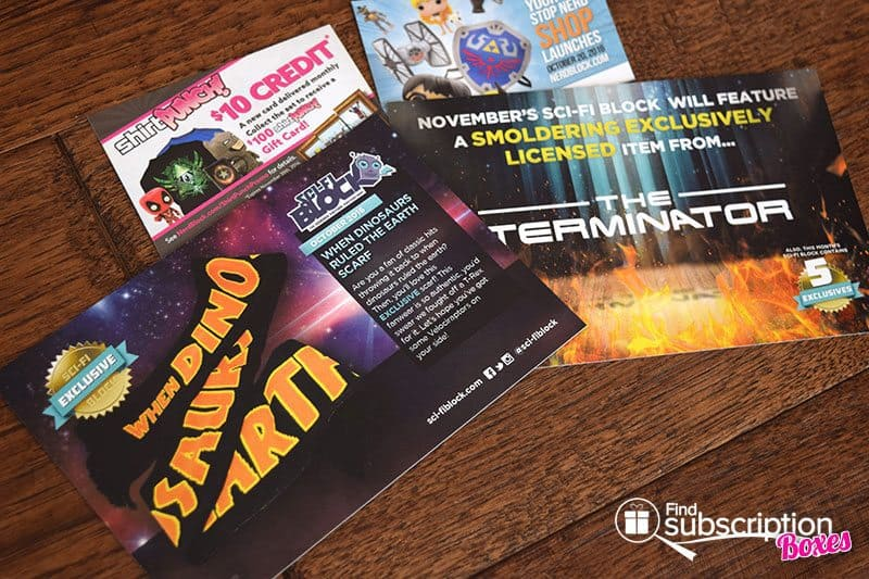 October 2016 Sci-Fi Block Review - Product Cards