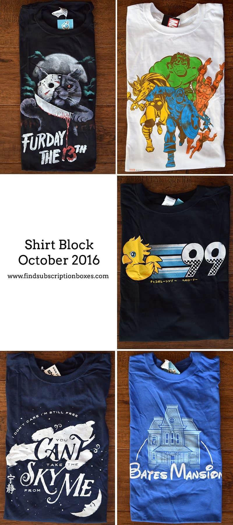 October 2016 Shirt Block Review - Inside the Box
