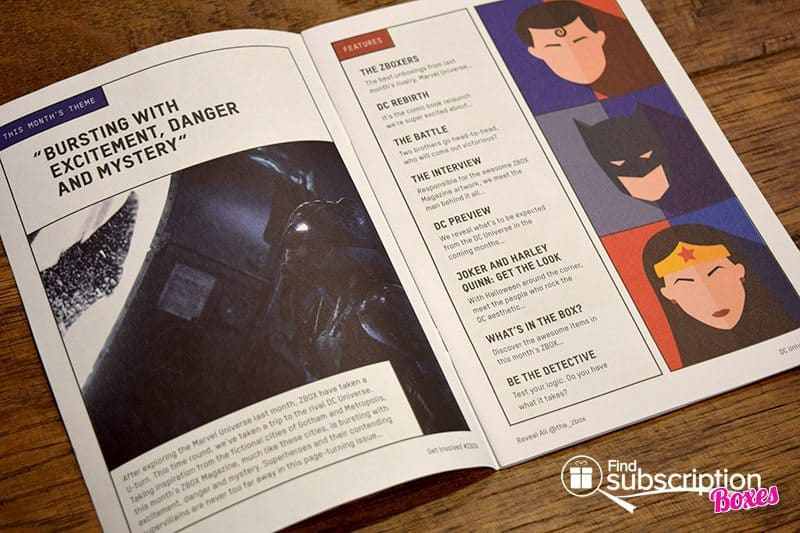 October 2016 ZBOX Review - DC Universe - Magazine