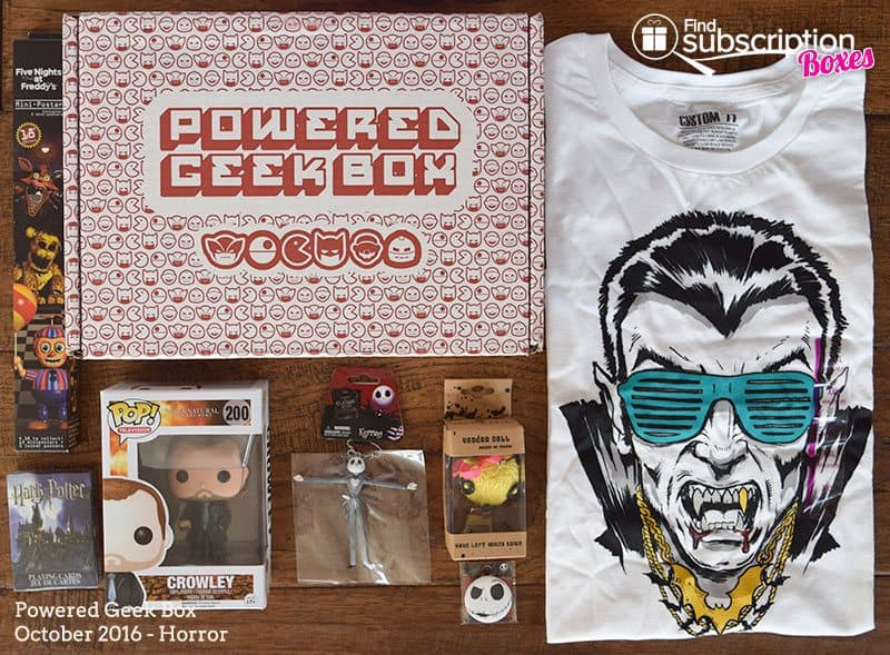 Powered Geek Box October 2016 Review - Box Contents