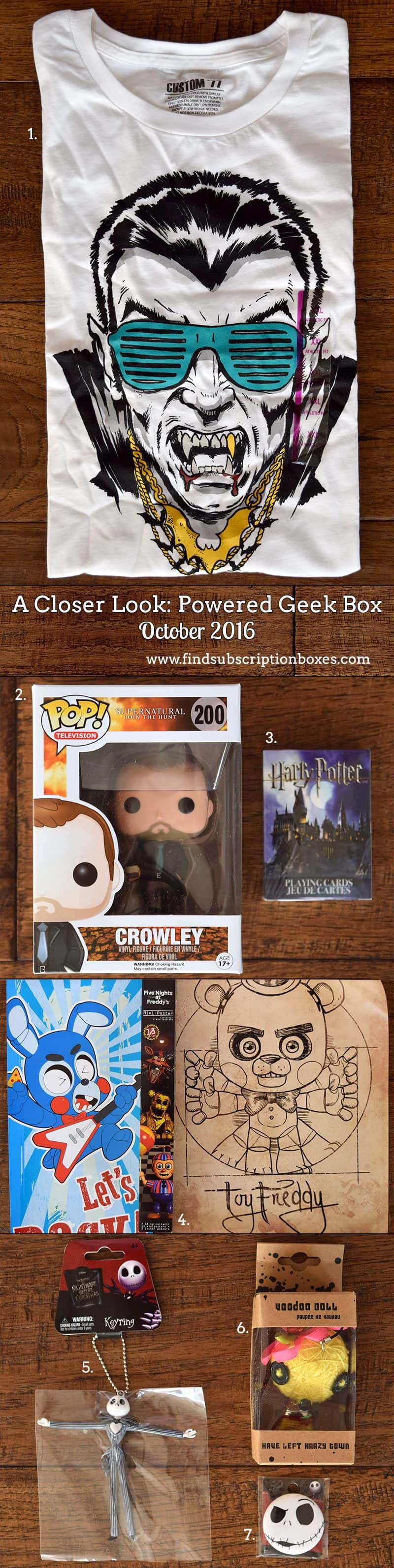 Powered Geek Box October 2016 Review - Inside the Box