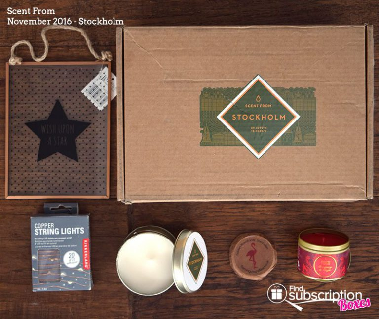 Scent From November 2016 Review -Stockholm - Box Contents