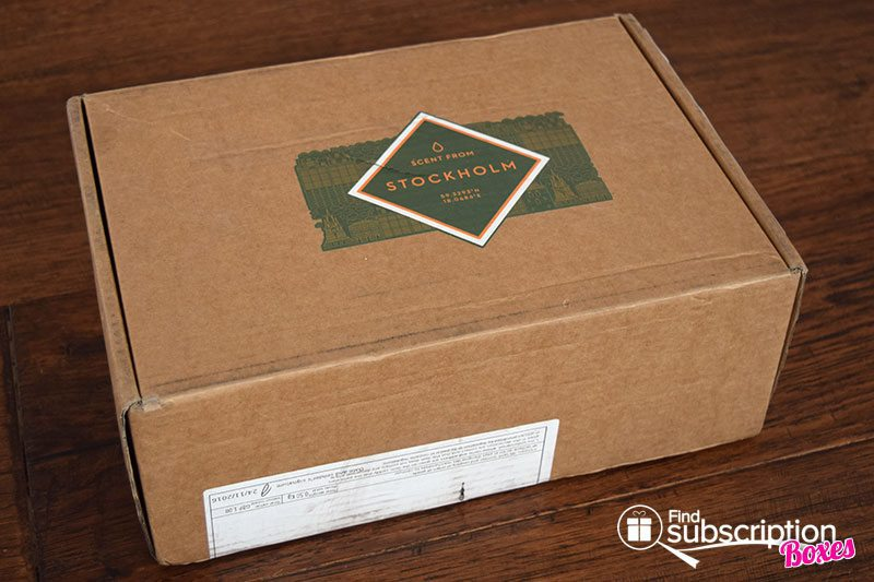 Scent From November 2016 Review -Stockholm - Box