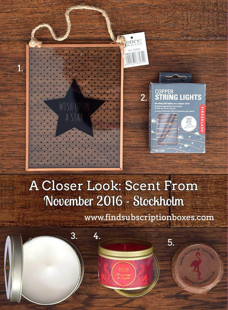 Scent From November 2016 Review -Stockholm - Inside the Box