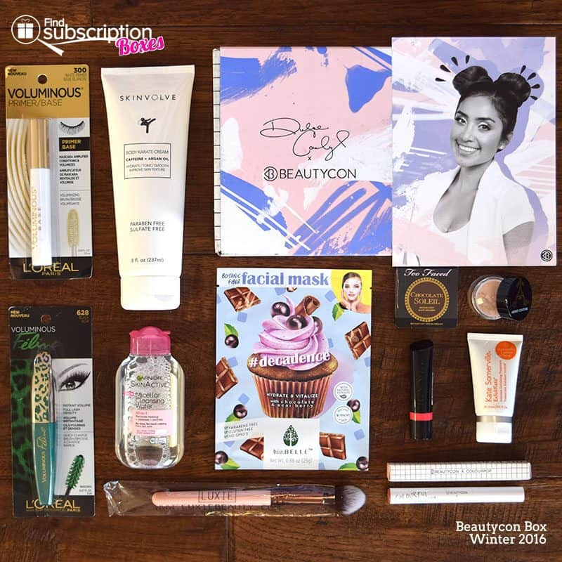 Winter 2016 Beautycon Box Review - Box Contents
