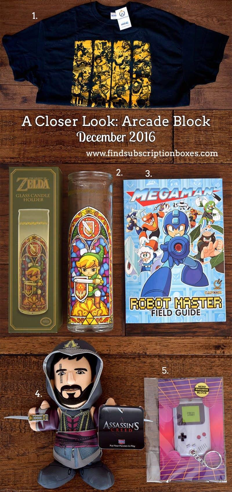 December 2016 Arcade Block Review - Inside the Box