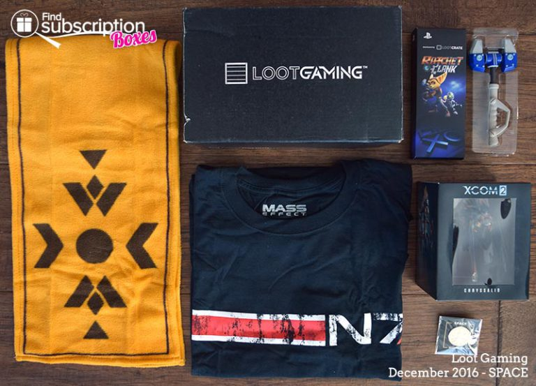 December 2016 Loot Gaming Review - Space Crate - Box Contents