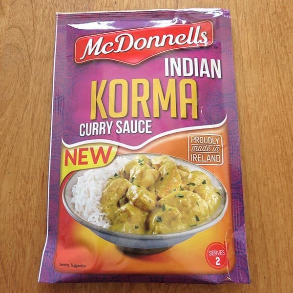 Degustabox January 2017 Review - McDonnell's Indian Korma Curry Sauce