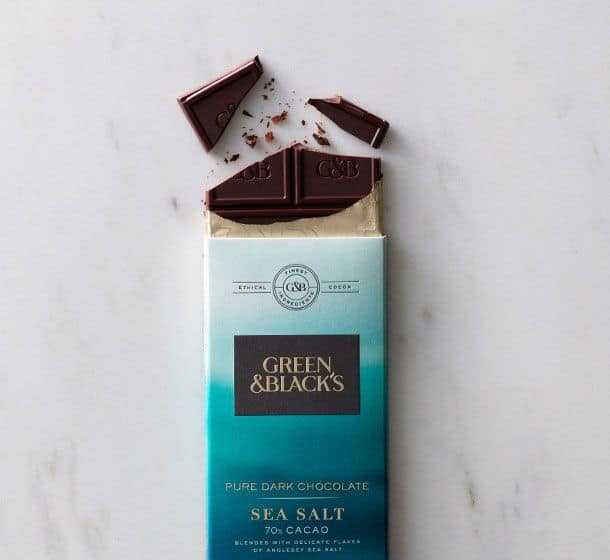 February 2017 Degustabox Spoiler - Green & Black's - Pure Dark Chocolate with Sea Salt
