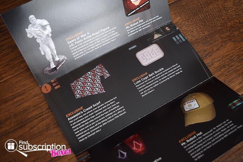 Loot Crate DX December 2016 Review - Revolution - Brochure