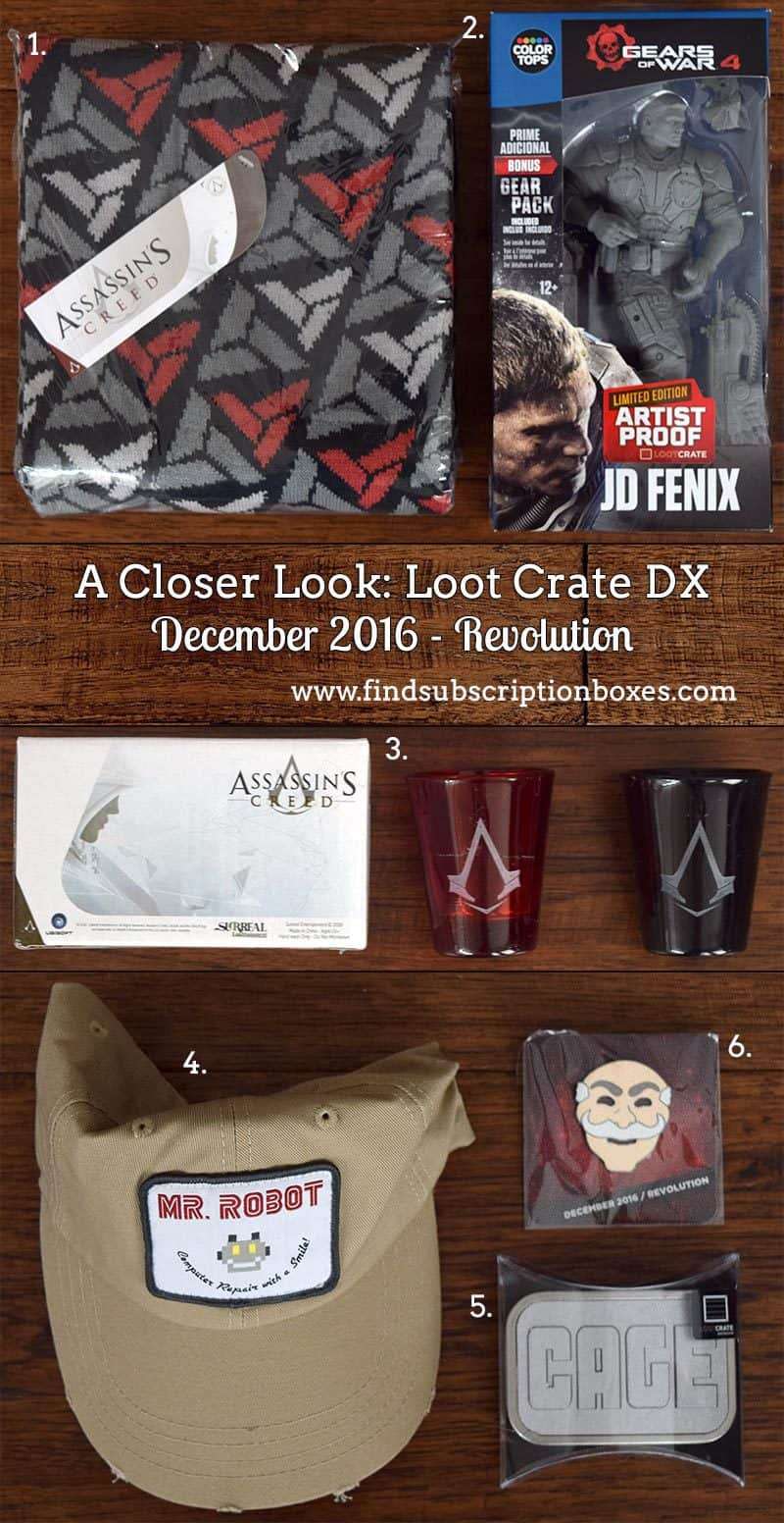 Loot Crate DX December 2016 Review - Revolution - Inside the Box