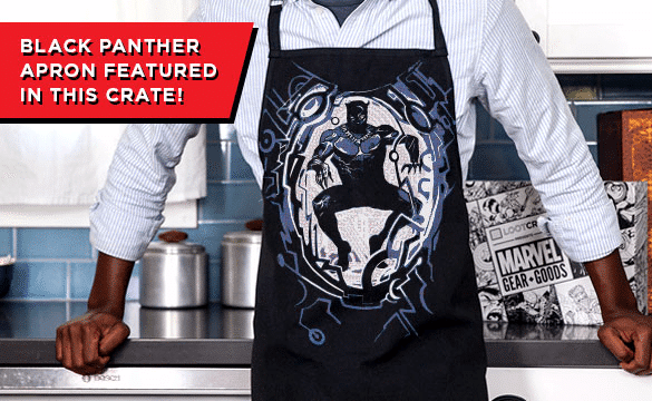 Loot Crate Marvel Gear + Goods January 2017 Box Spoiler - Black Panther Apron