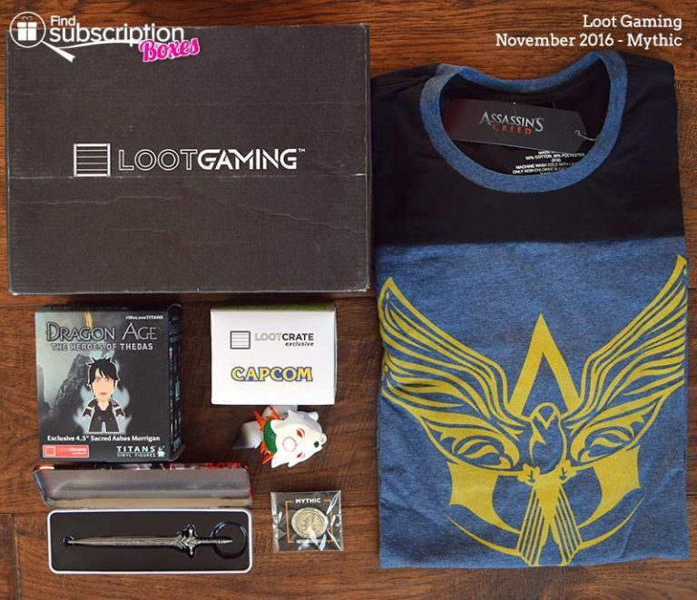 November 2016 Loot Gaming Review - Mythic - Box Contents
