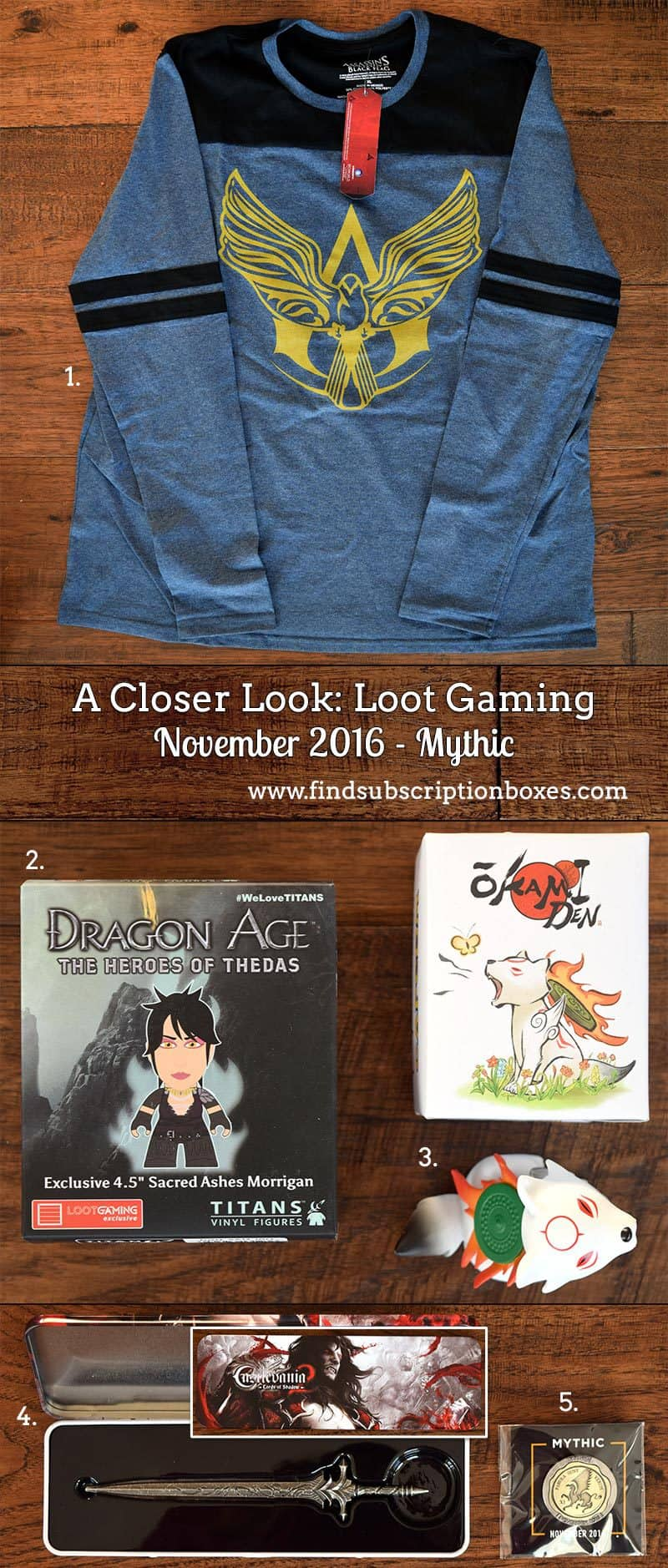 November 2016 Loot Gaming Review - Mythic - Inside the Box