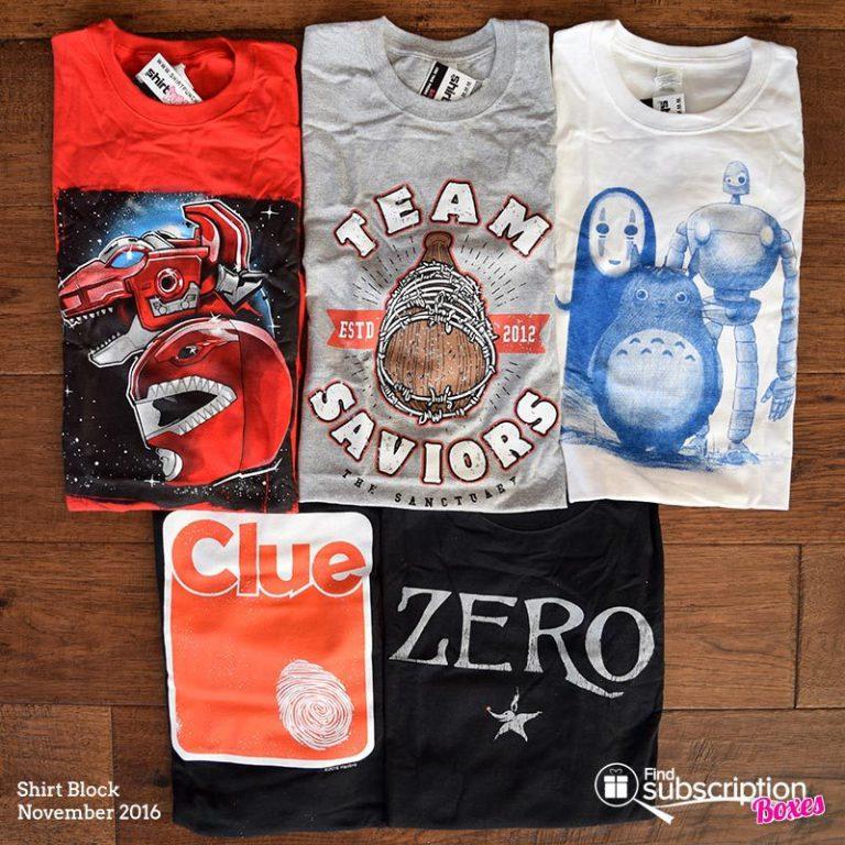 November 2016 Shirt Block Review - Box Contents