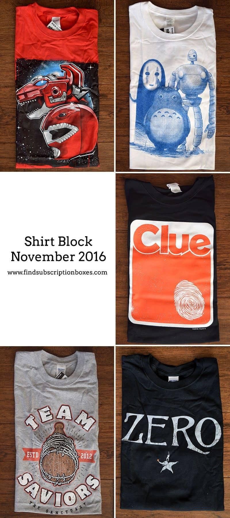 November 2016 Shirt Block Review - Inside the Box