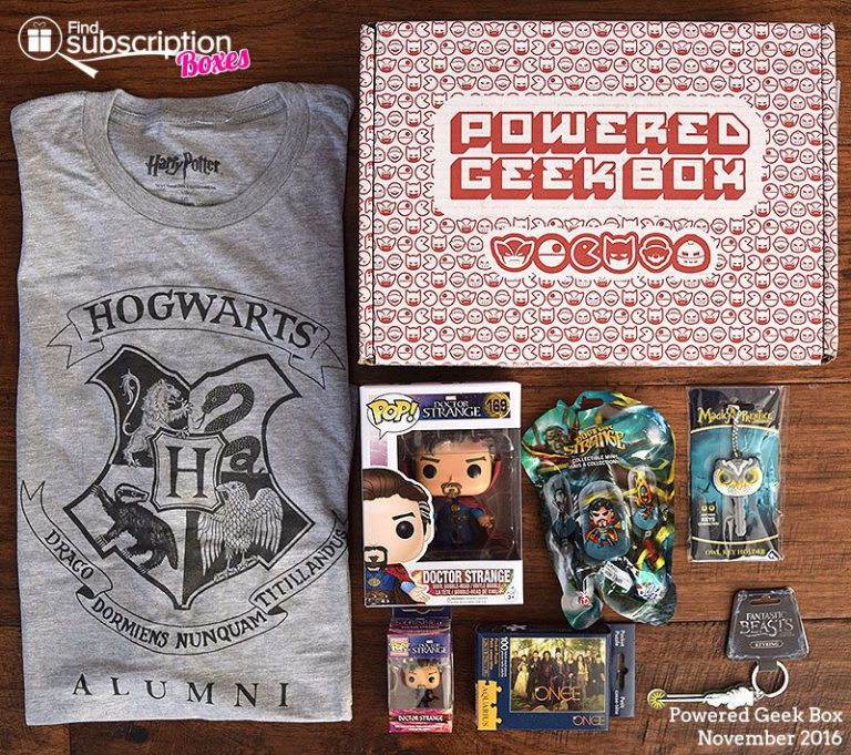 Powered Geek Box November 2016 Review - Box Contents