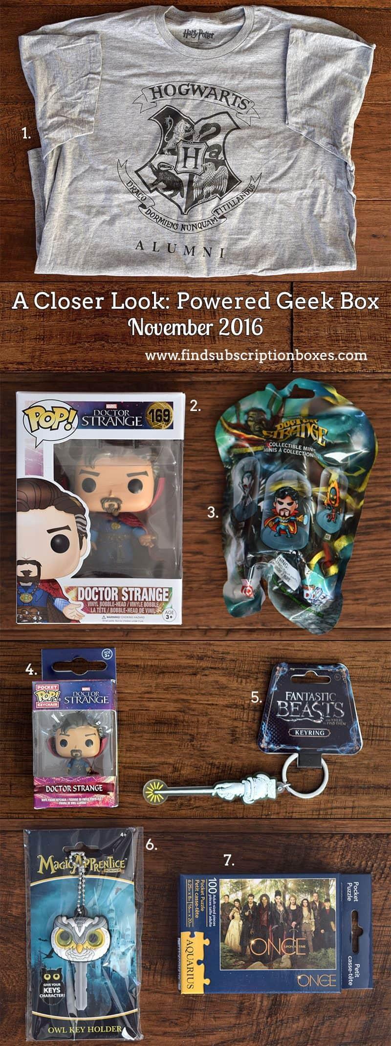 Powered Geek Box November 2016 Review - Inside the Box