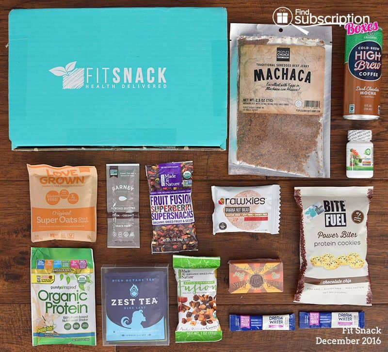 December 2016 Fit Snack Review - Box Contents