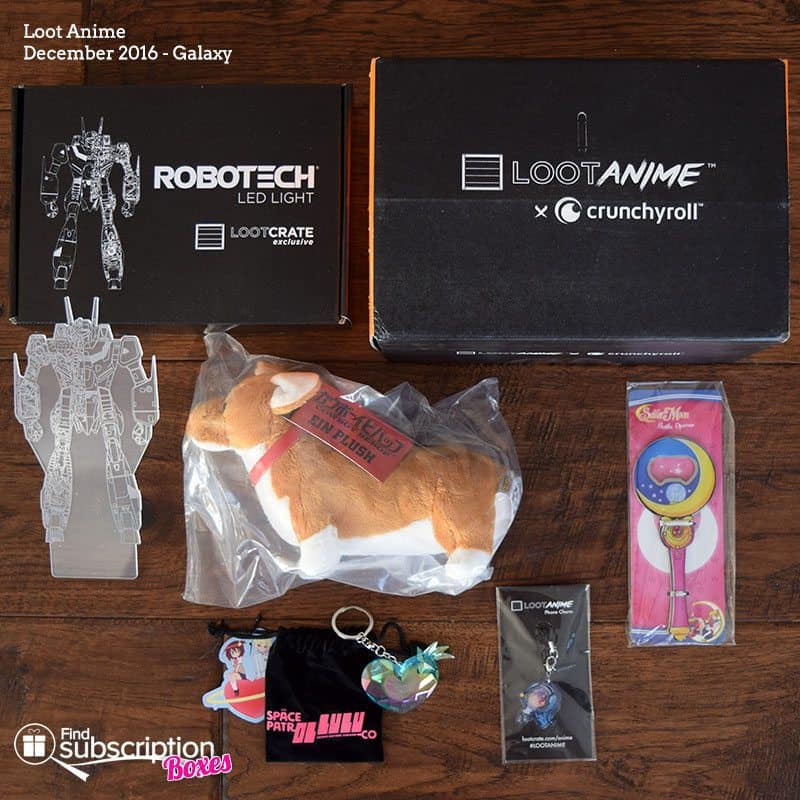 December 2016 Loot Anime Review - Box Contents