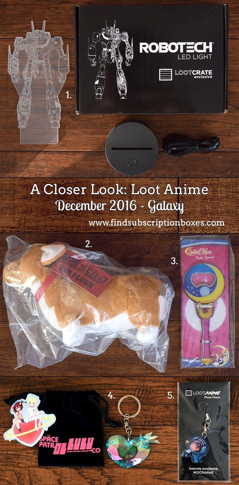 December 2016 Loot Anime Review - Inside the Box