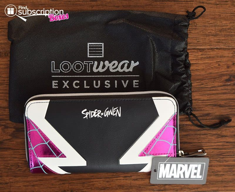 December 2016 Loot Wear Review - Loot for Her - Spider-Gwen Wallet
